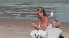 The bird or the ..? (I AM LESLIE) Tags: sexy beach girl breast sony bikini swimsuit downblouse tophalf