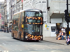 Buses in London (3rd July 2016) (Tobytrainspotting13) Tags: tobytrainspotting13 new routemaster bus for london lt338 ltz 1338 magnum advert livery rte 137 sunday 3rd july 2016