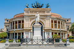 DSC_022.jpg (Mjooolka) Tags: palermo sicily italy travel cinquecento italian morning architecture car vintage windows buildings fiat statue theater sky blue politeama symmetry mediterranean lights wanderlust plants flowers cityscape street square minimalist summer august old