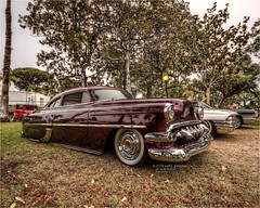 1954 chevy (pixel fixel) Tags: 1950 chevrolet maroon pinstriping signalhill signalhillpark sultans