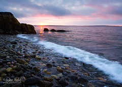 Sunrise, Penobscot Bay, Camden, Maine (18861-18865) (John Bald) Tags: daybreak clouds rock shore coastline morning dawn sunrise risingsun horizon sky maine camden islesboro penobscotbay westpenobscotbay