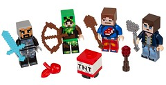 LEGO Minecraft 853609 Skin Pack characters (hello_bricks) Tags: minecraft lego legominecraft 853610 853609 skinpack toy toys minifig minifigures minifigure