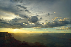 DSC_0029 yavapai point sunset hdr 850 (guine) Tags: grandcanyon grandcanyonnationalpark canyon rocks clouds sunset hdr qtpfsgui luminance