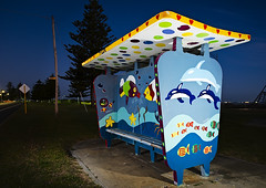 Bus Shelter (Macr1) Tags: 61403327236 architecture australia beach bluehour builtenvironment busstop camera conditions d700 default geography lens location markmcintosh nikon nikond700 outdoor pcenikkor24mmf35ded sb900 safetybay strobist structure subject urban wa westernaustralia macr237gmailcom markmcintosh aus