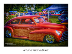 Car Show_8320 (RB Smith ~ Freelance Photographer) Tags: chevrolet hotrod customized red fleetline carshow fast outdoor car 1947
