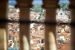 Florence from Above (cookedphotos) Tags: canon 5dmarkii travel italy florence brunelleschisdome brunelleschi dome railing column columns santacroce basilica duomo view cityscape