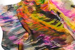 Abstract #1-3 (beesybee) Tags: felting handdyedscarf handdyedsilkfabric nunofeling scarf shibori silkchiffon silkfabric