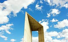 Building Climbing (adrian_0ff) Tags: architecture arquitectura escalada rocodromo futurista sky blue clouds nuages minimal nubes