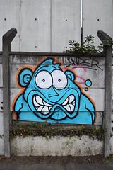 Peur bleue (HBA_JIJO) Tags: streetart urban vitry vitrysurseine art france hbajijo wall mur painting peinture paris94 spray charactere ander