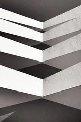 Balcons au petit jour (GastonGraphy) Tags: noiretblanc exposition architecture balcons