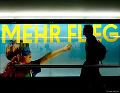 MEHR Fleg-el (Ren Mollet) Tags: airport zrich boy flegel superman street streetphotography shadow silhouette renmollet travel