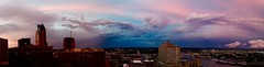 Calm after the storm (Marianna Gabrielyan) Tags: storm clouds colors colorful stpaul minnesota mississippi river sunset panorama pink downtown