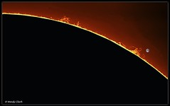 North East Small Prominences 20 Aug 2016 (twinklespinalot) Tags: sun solar prominence daystar quark skywatcher 120ed astronomy