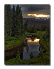 Sunset on the Colorado River (rianhouston) Tags: colorado nationalparks rockymountainnationalpark sunset coloradoriver