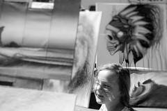 Hot day (SCMowbray) Tags: soft blackandwhite driftingaway littlegirl dreamland muralfestival vancouver artisan streetart nikond7100