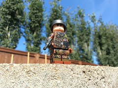 On the hunt for partisans. (Kalev123) Tags: waffen ss luger stahlhelm outdoors soldier outside lego nazi germany custom