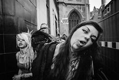 Walking Dead (Shot In The Street) Tags: streetphotography street bw 2015 white film zombie mono canoneos3 analogue blackandwhite monochrome candid pushed black bristol 1600 kodaktmax tmax400 tmax eos3 kodak