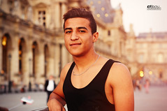 AMMAR FROM LOUVRE (Nasrallah Lamine) Tags: paris muse du louvre pyramid france freind