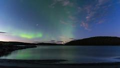 Aurora (JH') Tags: nikon nikond5300 nature northernlights d5300 summer sky sigma moon trees water landscape 2016 1020 heaven sweden auroraborealis aurora borealis beach stars clouds