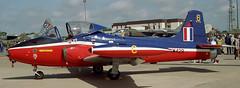 Jet Provost XW429 Mildenhall 93 (joolsgriff) Tags: hunting bac jetprovost t5a xw429 6fts raf finningley mildenhallairfete 1993