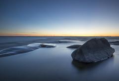 A stone in sunset (Madeleine Forsgren) Tags: hammarsydspets hammar madeleineforgren nikon d810 vrmland sweden sverige solnedgng sunset