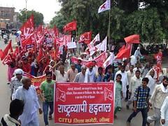 Grevistas no estado indiano de Haryana (diarioliberdadebrasil) Tags: ndia greve