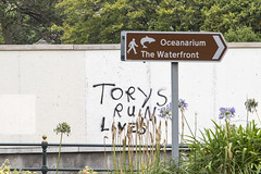 torys ruin lives (Mark Rigler UK) Tags: bornemouth sign tory ruin lives life england whitefence political poster