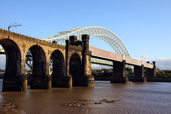 Northern England #0080 Widnes 140911 Runcorn-Widnes Bridge (Steveox55) Tags: bridge railway merseyside widnes rivermersey
