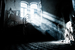 Mistery HWW!! (wolfi8723) Tags: window abandoned stairs light old forgotten lostplace hohenlychen go2know