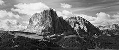 S O L I D (Massimiliano Teodori) Tags: alpi dolomiti sassolungo sassopiatto seceda valgardena mountain blackandwhite landscape