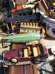 Vintage toys (Andrea Kirkby) Tags: vintage toy car airship steampunk