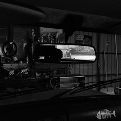 Garagenszene (shortscale) Tags: garage rckspiegel opel kadett mini cooper