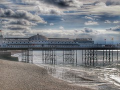 Brighton pier.. (bluebell girl) Tags: seascape landscape clouds sky canong12 waves seaside beach sea coast pier eastsussex brighton