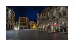 Arena di Verona (andyrousephotography) Tags: italy verona arena amphitheatre roman arcades morning early dawn bluehour canon eos 5d mkiii