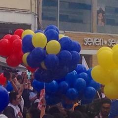 Nunca antes estos tres colores se vieron tan alegres. (carocampalans) Tags: instagramapp colombia paz colores bandera