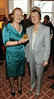 Joan Garahy and Amb Madame Emmanuelle d'Achon at the Hennessey Literary Awards held in the French Ambassadors Residence
