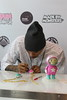 Chris Brown & Ron English launches The Dum English Astronaut Collection held at the Toy Art store in Melrose Los Angeles, California