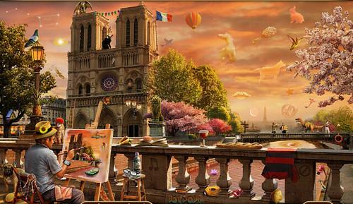 The Parisian Painter - Part 3: Scene 3 - Notre Dame