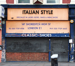 Italian Style, Shoreditch High Street E1 (Emily Webber) Tags: london shoes shops e1 shopfronts shoreditchhighstreet towerhamlets londnshopfronts