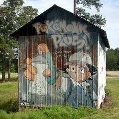 PokéBarn (Gerry Dincher) Tags: moorecounty northcarolina redhillroad stantonhillroad nickensroad pokémon pokémonkplus gottapaintemall davidellis barnstormers 1999 gerrydincher