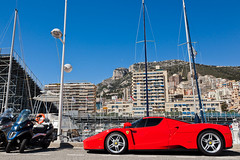 Enzo (Lambo8) Tags: red horse sun france car rouge soleil photo hp italia power d top south s ferrari monaco mc coche enzo april af gt marques avril f28 supercar rocher ch sud 2012 v12 tmm afd principaut hypercar worldcars