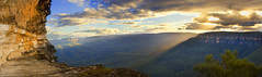 Thinking of You (edwinemmerick) Tags: light sky panorama cliff sun 20d weather rock clouds canon eos australia bluemountains valley nsw vista edwin flatrock wentworthfalls jamisonvalley emmerick edwinemmerick