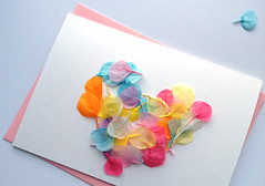 Heart Petals Card (essimar) Tags: make project mom for diy day craft mothers card tuesday how etsy essimar