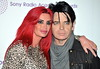 Gary Numan and Gemma O'Neill 30th anniversary Sony Radio Academy Awards held at the Grosvenor House - Arrivals. London, England