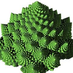 Finer Romanesco (vitroid) Tags: spiral experimental fractal romanesco povray
