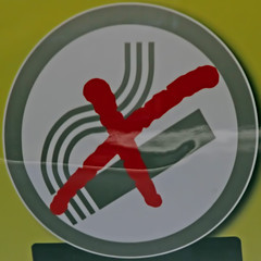 No smoking (Leo Reynolds) Tags: sign canon eos 7d squaredcircle f56 iso1600 signsafety signno 0006sec hpexif 122mm signnosmoking sqnewcastle signcircle xleol30x sqset077
