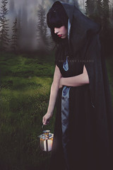 madison (Brittany Lealand) Tags: girl beauty fashion dark lost mysterious hood redlips haunting lantern concept wandering redridinghood