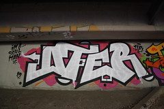 OTER UC (Reckless Artist) Tags: bridge pink urban white black west art minnesota wall photography graffiti photo midwest paint artist graf united stpaul minneapolis spray crack mpls photograph production 12 celebs twincities graff uc crunk burner mn minn ultra mid burners crushers 2012 reckless jh reto pts stp burna oter d2f