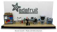 Ladyada's Workshop in LEGO (bruceywan) Tags: diy hardware lego bruce workshop opensource commission photostream lowell moc miniland mosfet cuusoo ladyada adafruit brucelowellcom