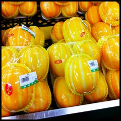 Korean Melons (kit) Tags: food yellow korea seoul melon southkorea striped koreanmelon kitsweeney
